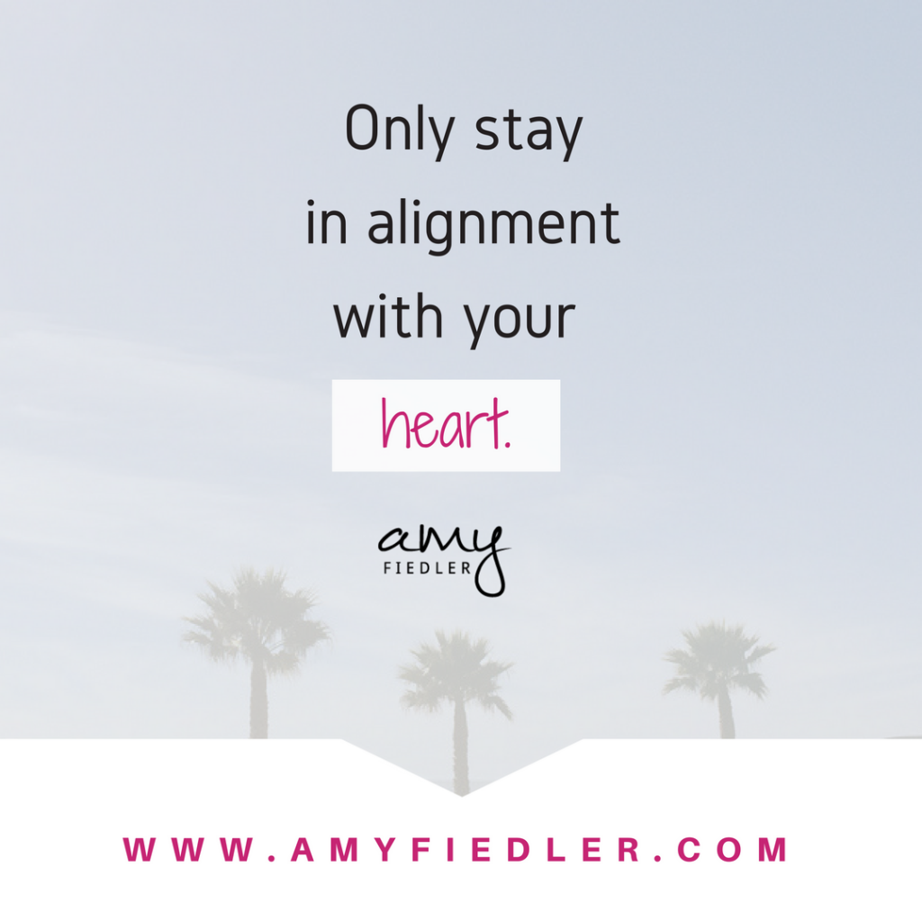 alignment with your heart Amy Fiedler